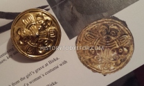 Amulet replica and photo of original