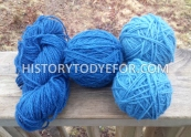 Indigo dyed yarn